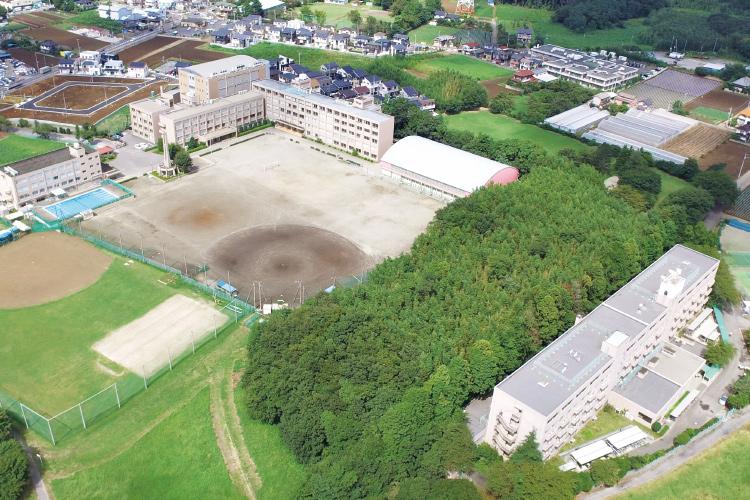 秀明八千代中学校・高等学校の空撮写真です。