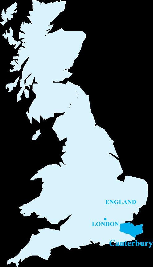 ケント州の位置を示す概略図です。