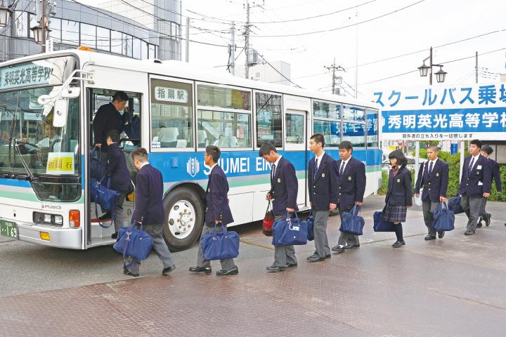 スクールバスのイメージ写真です。